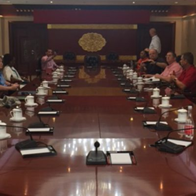 Doctoral students from the University of Georgia's Institute of Higher Education visit China's Ministry of Education in the summer of 2017.