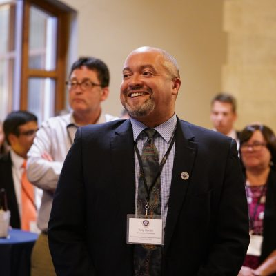 Tony Harding, SEC Academic Leadership Development Program fellow from the University of Kentucky, during the welcome reception for the fall 2019 workshop at Vanderbilt University.