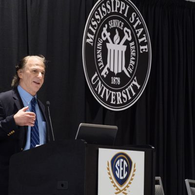 Award-winning author John Barry provides a keynote address at the 2017 SEC Academic Conference on the future of water.