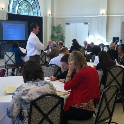 SEC ALDP participants take part in a budget exercise during the 2017 fall workshop at LSU.