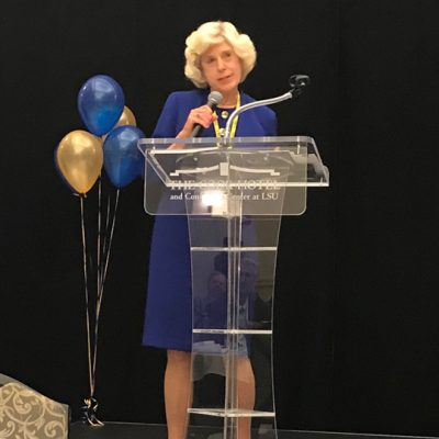 Dr. Christine Curtis, Provost and Executive Vice President for Academic Affairs at the University of Alabama-Huntsville and former SEC ALDP liaison from the University of South Carolina, provides keynote remarks during the SEC ALDP 10-year celebration at the 2017 fall workshop at LSU.
