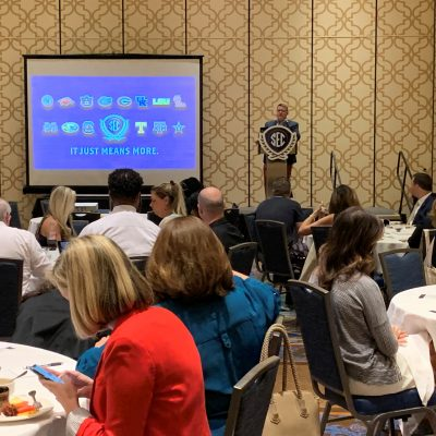 Local school counselors hear admissions presentations from each SEC member university during the 2019 Fall SEC College Tour in the Southwest.