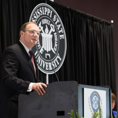 Mississippi State University President Mark Keenum welcomes 2017 SEC Academic Conference attendees to Starkville.