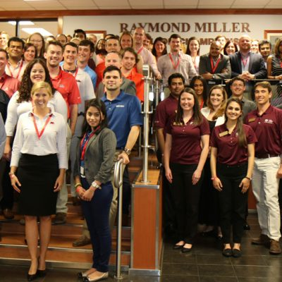 SEC MBA students and advisors pictured before the 2016 SEC MBA Case Competition at the University of Arkansas.