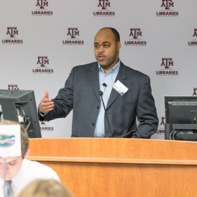 Dr. C.J. Woods from Texas A&M University speaks about leadership and campus excellence at the 2015 SEC Academic Collaboration Award event
