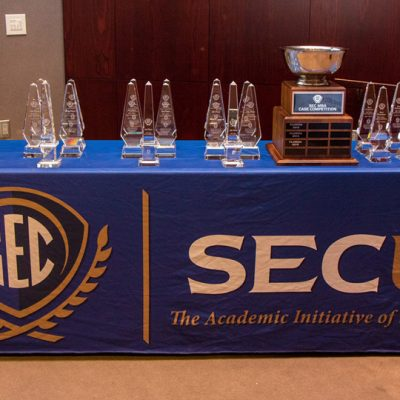 SEC MBA students compete for various awards that include the traveling trophy.