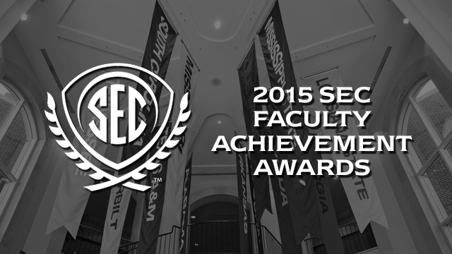 The SEC Faculty Achievement Awards recognize one faculty member from each SEC university who has excelled in teaching, research and scholarship.