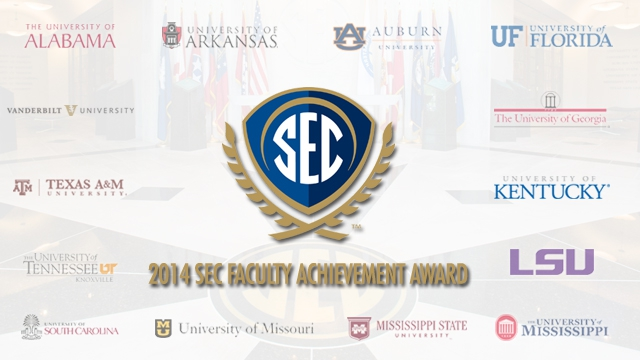 The Southeastern Conference annually honors faculty members at all 14 SEC universities