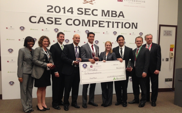 Florida Repeats as SEC MBA Case Competition Champion