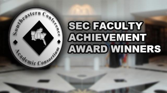 SEC Announces 2012 Faculty Achievement Award Recipients