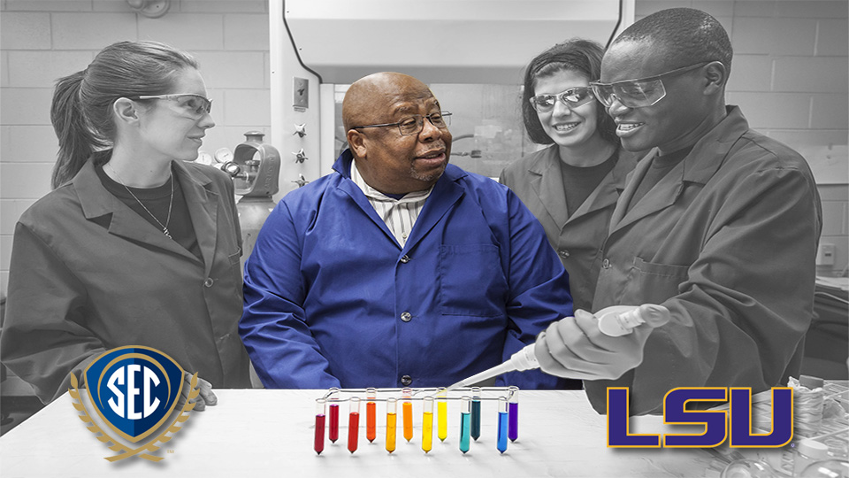 Dr. Isiah Warner, LSU Boyd Professor, is the 2016 SEC Professor of the Year