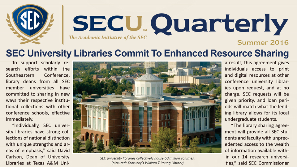 SECU Quarterly (Summer 2016)