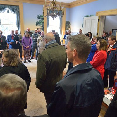 SEC Academic Leadership Development Program participants tour the Lyceum on the University of Mississippi campus during the spring 2016 workshop.