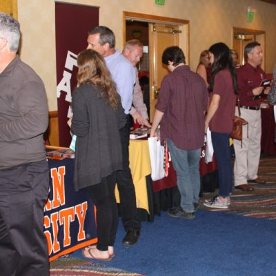 SEC admissions representatives participate in the college fair event during the 2014 Spring SEC College Tour in San Diego.