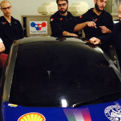 Dr. Peter Jones from Auburn University learns more about an automotive engineering project during his visit to the Politecnico di Torino in Italy in January 2015.