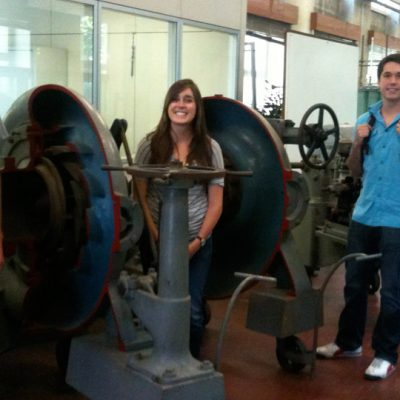 SEC engineering students take a tour of the Politecnico di Torino campus.