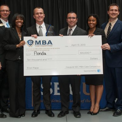 The University of Florida won the inaugural SEC MBA Case Competition in 2013 held at the University of Missouri.