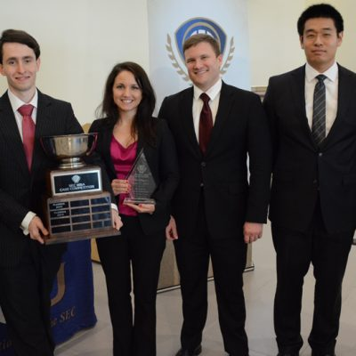 The University of Florida won the 2015 SEC MBA Case Competition.