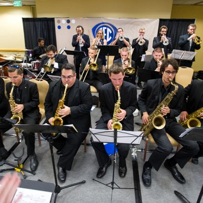 A jazz ensemble comprised of SEC students performs at the SEC Presidents, Chancellors and Provosts Reception during the 2015 SEC Symposium.