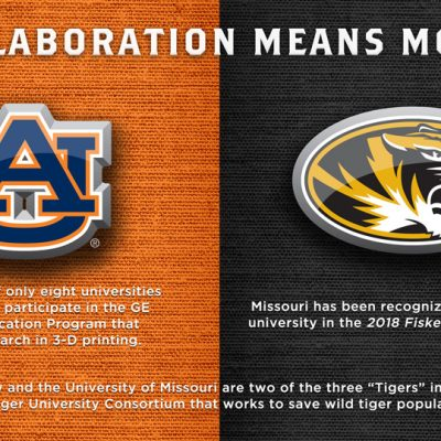 SEC university collaborative efforts between Auburn and Missouri.