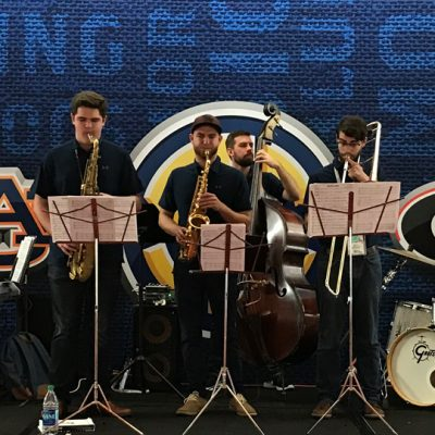 The 2017 SEC Student Music Ensemble performs at the SEC Pregame Hospitality Party prior to the SEC Football Championship.