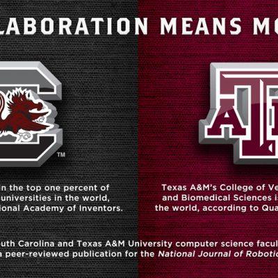 SEC university collaborative efforts between South Carolina and Texas A&M.