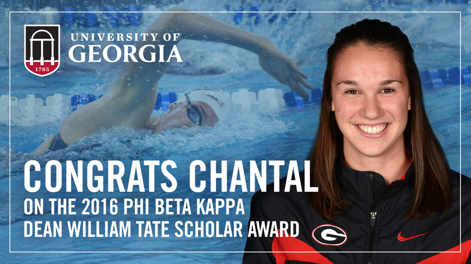 Georgia Swimmer Earns Top Honors for Academic Achievements
