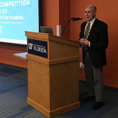 Dr. John Kraft, Dean of the Warrington College of Business at the University of Florida, welcomes 2017 SEC Student Pitch Competition participants to Gainesville.