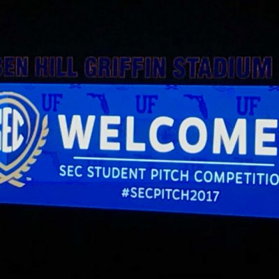 The final round of the 2017 SEC Student Pitch Competition was held at Ben Hill Griffin Stadium on the University of Florida campus.