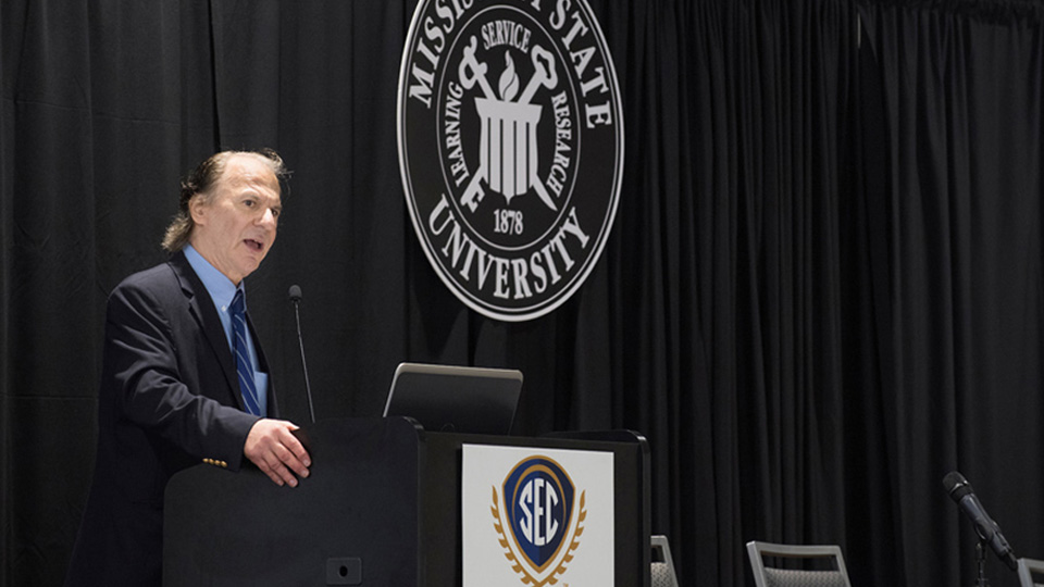 John M. Barry Encourages Intensity, Purpose in Work During SEC Conference at MSU