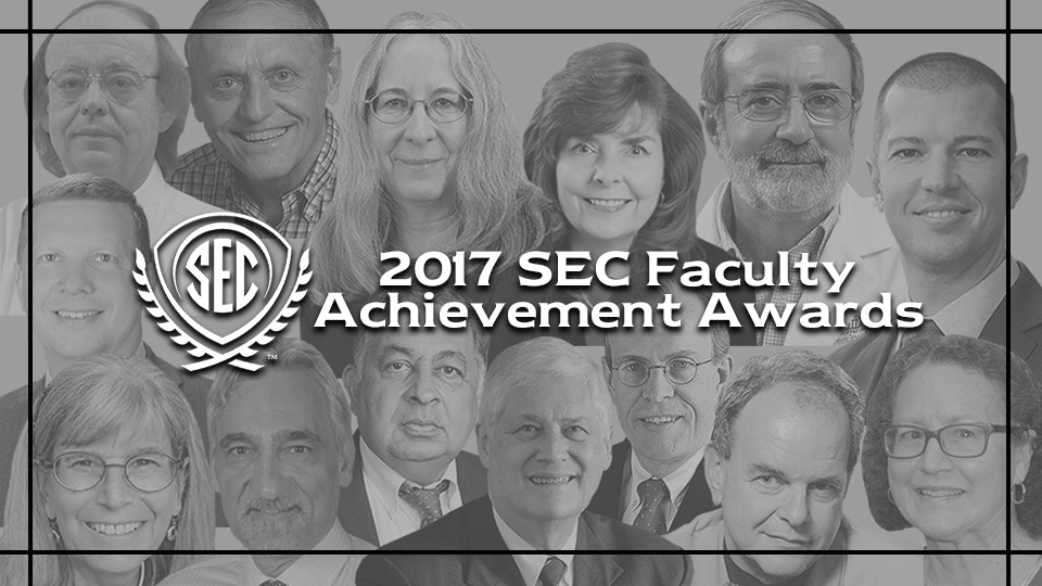 The SEC Faculty Achievement Awards honor one individual from each SEC university who has excelled in teaching, research and scholarship.