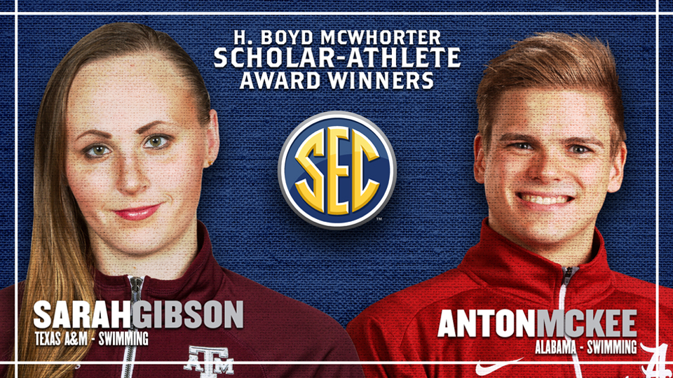 Alabama's McKee and Texas A&M's Gibson Named McWhorter Award Winners