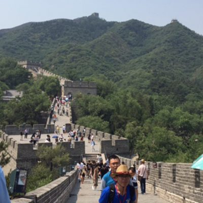 SEC students tour the Great Wall of China in Beijing during the summer of 2017.