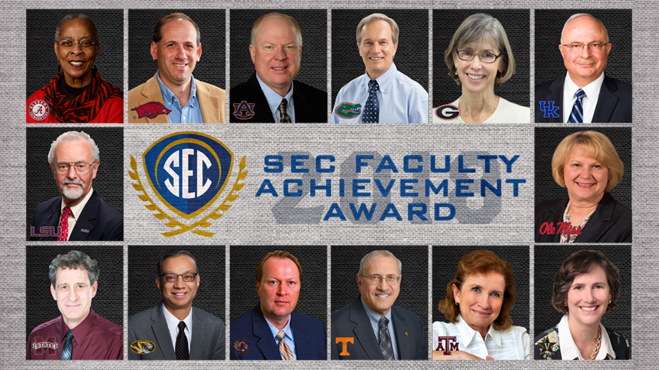 2018 SEC Faculty Achievement Award winners named from each SEC university.