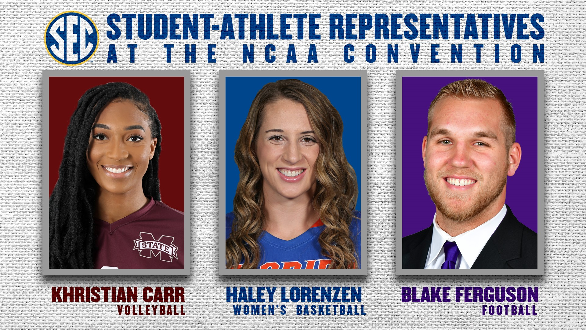 Three Student-Athletes To Represent SEC At NCAA Convention