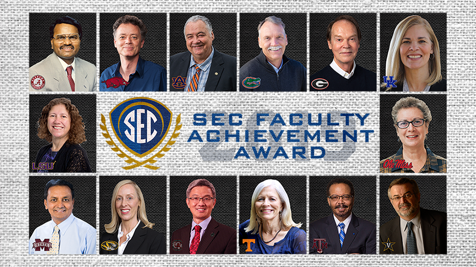 SEC Selects 2019 Faculty Achievement Award Recipients