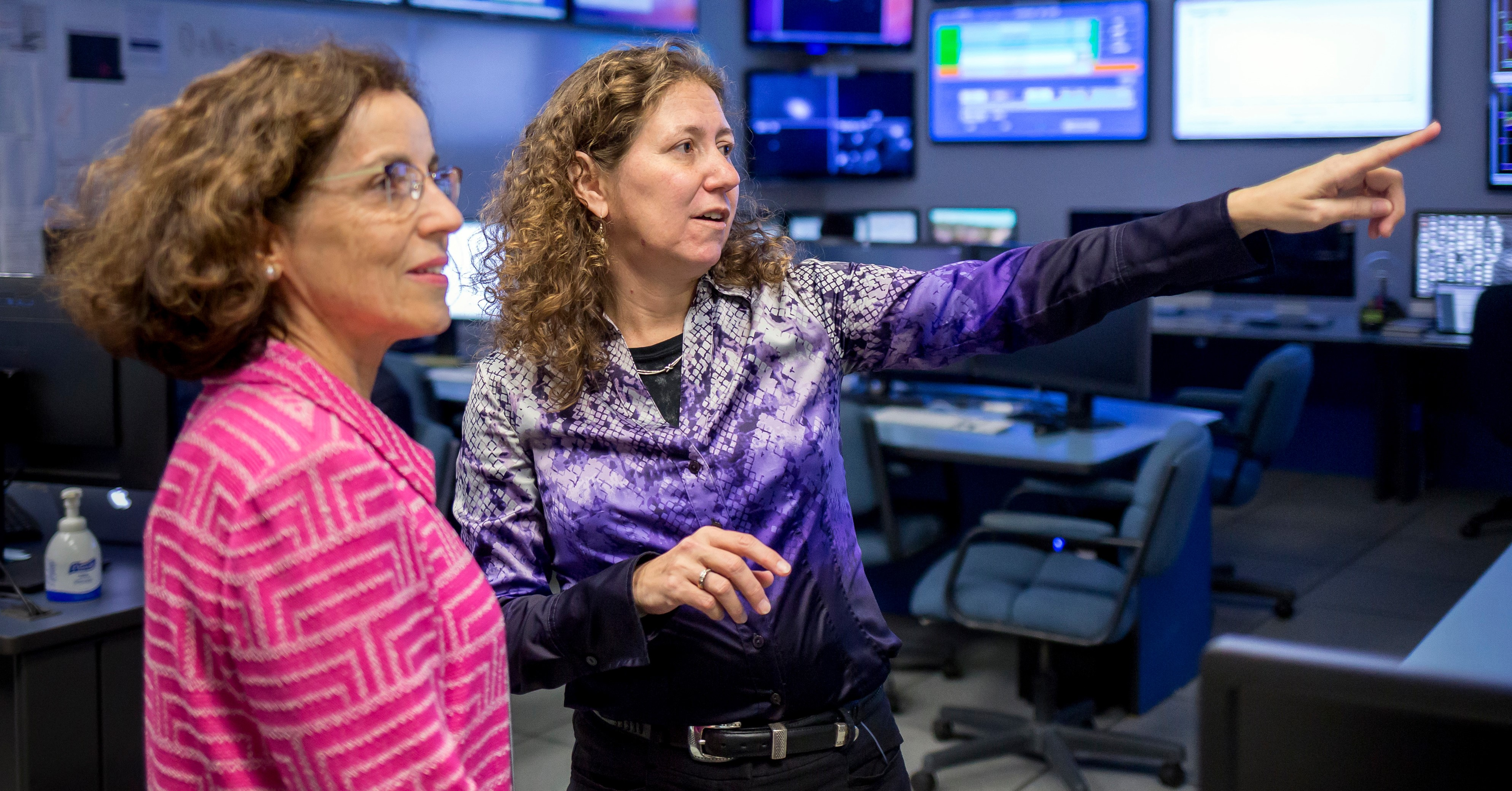 Dr. Gabriela González, right, was named the 2019 SEC Professor of the Year.