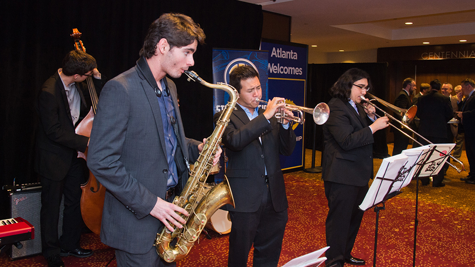 Members of the 2018 SEC Student Music Ensemble performing in Atlanta, Georgia.