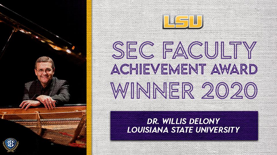 Dr. Willis Delony Wins SEC Faculty Achievement Award