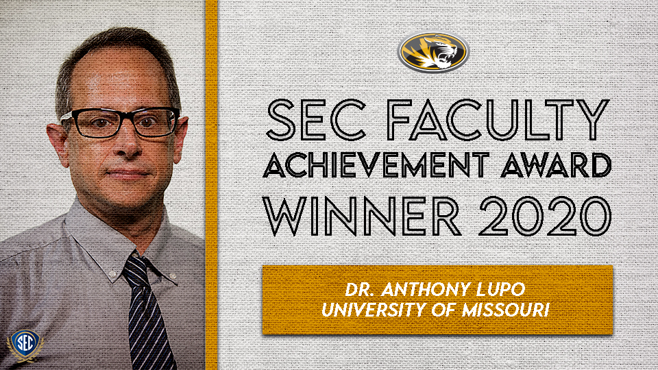 Dr. Anthony Lupo Wins SEC Faculty Achievement Award