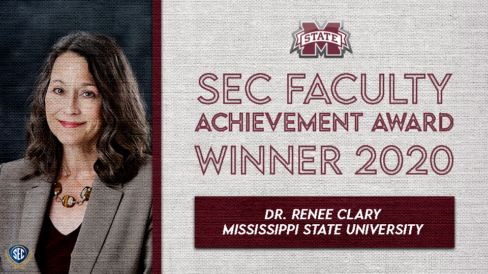 Dr. Renee Clary Wins SEC Faculty Achievement Award