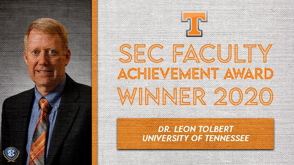 Dr. Leon Tolbert Wins SEC Faculty Achievement Award