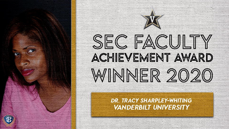 Dr. Tracy Sharpley-Whiting Wins SEC Faculty Achievement Award