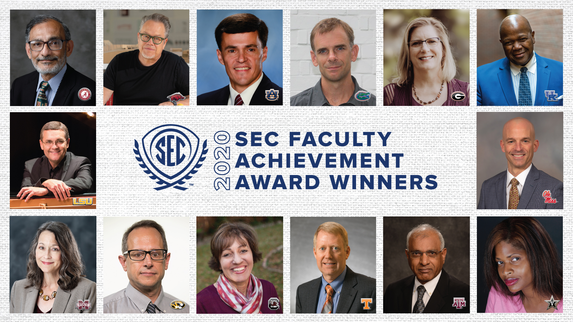 2020 SEC Faculty Achievement Awards Highlight Strength in Classrooms, Labs