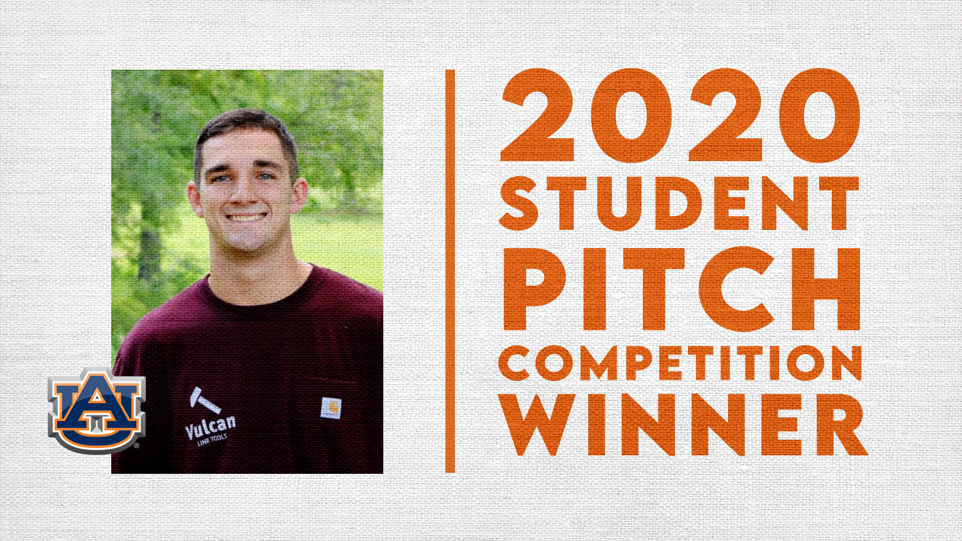 Auburn University's Zac Young wins 2020 SEC Student Pitch Competition