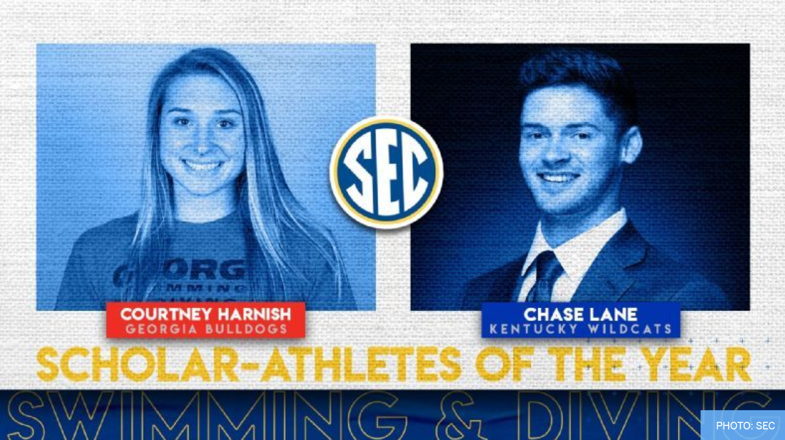 2021 SEC Swimming & Diving Scholar-Athletes of the Year