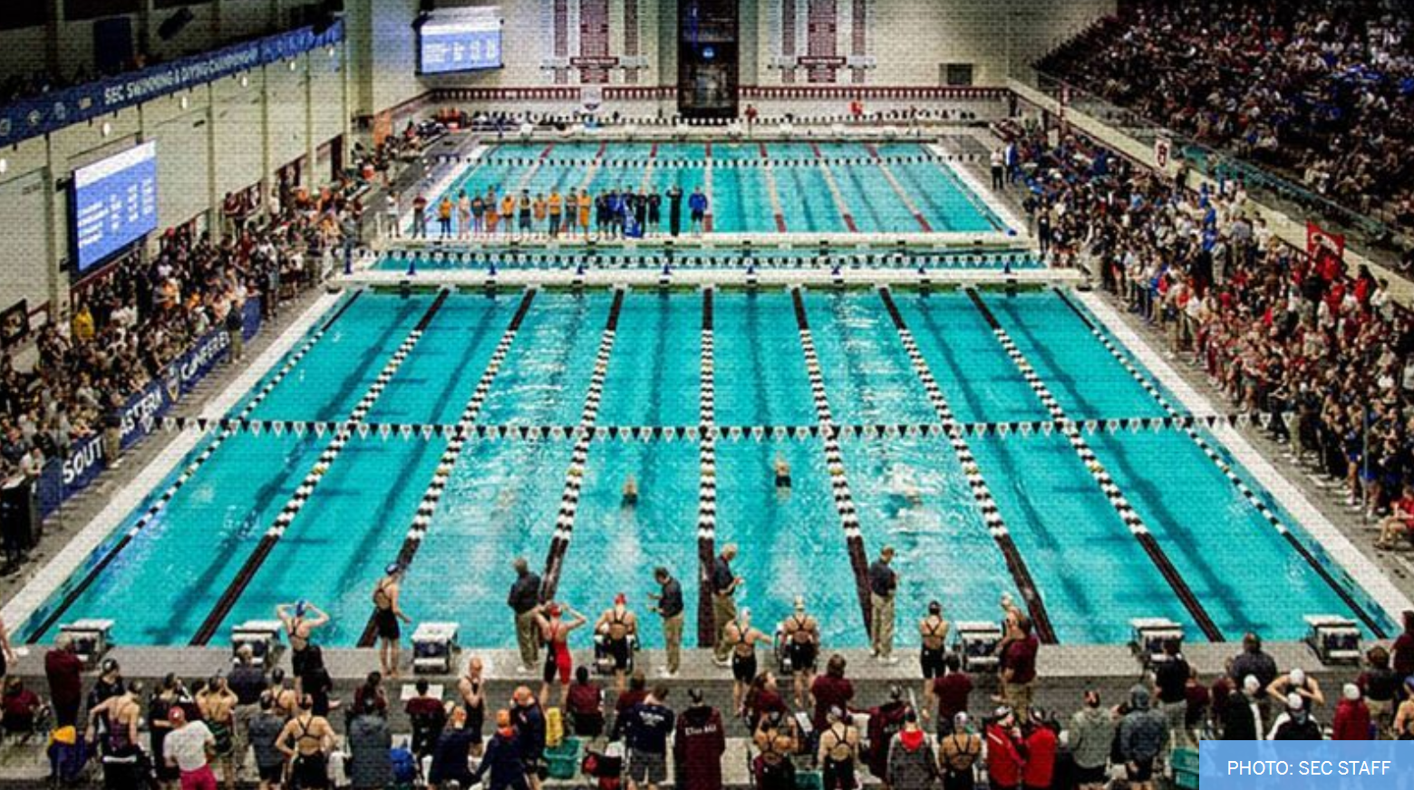 2021 SEC Women's Swimming & Diving Community Service Team