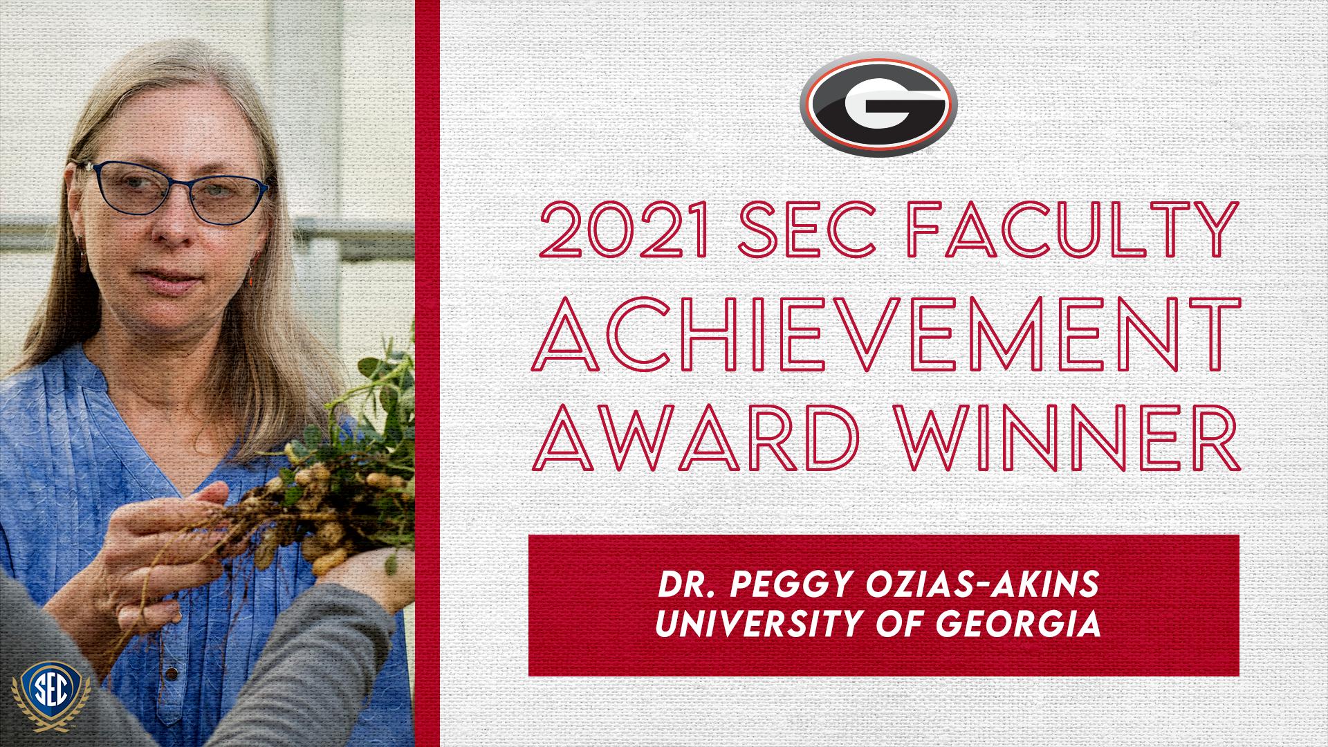 SEC Announces Dr. Peggy Ozias-Akins Wins 2021 Faculty Achievement Award for University of Georgia