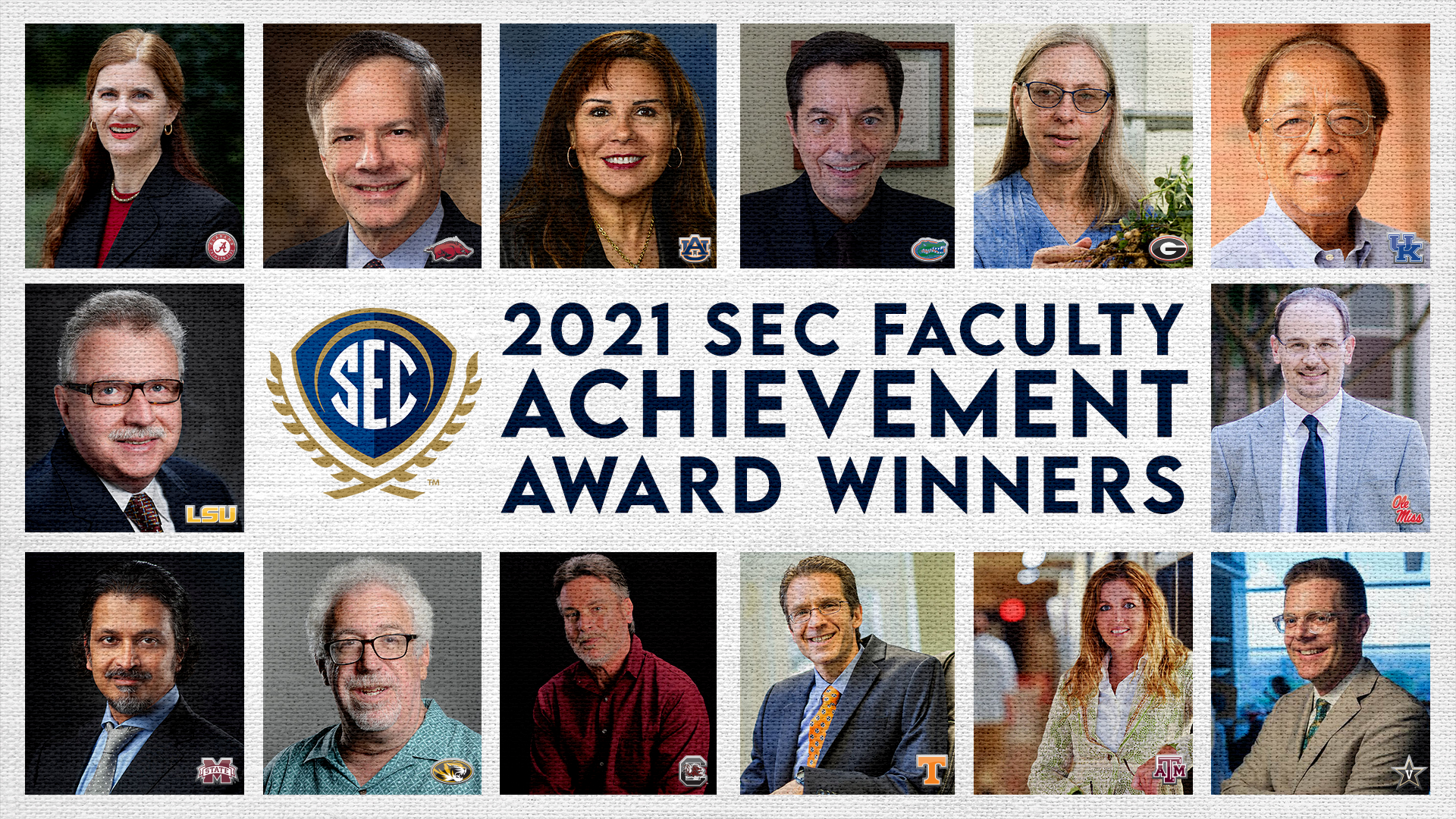 SEC Uses Athletics Platform to Celebrate, Support Conference Member Faculty